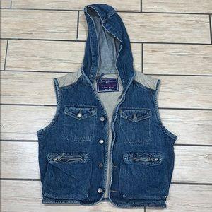 VINATGE Gap denim/quilted vest